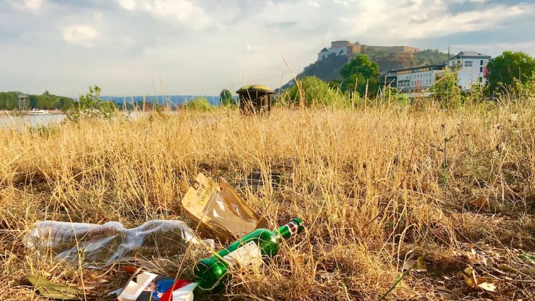 Foto: Müll in der Landschaft, Littering