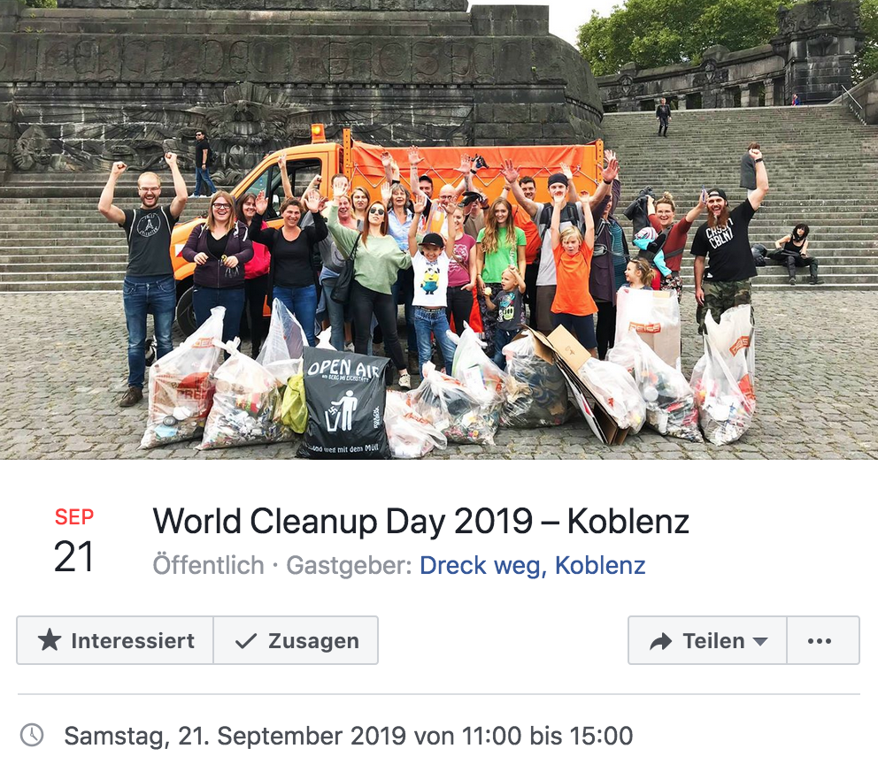 World Cleanup Day 2019 – Koblenz