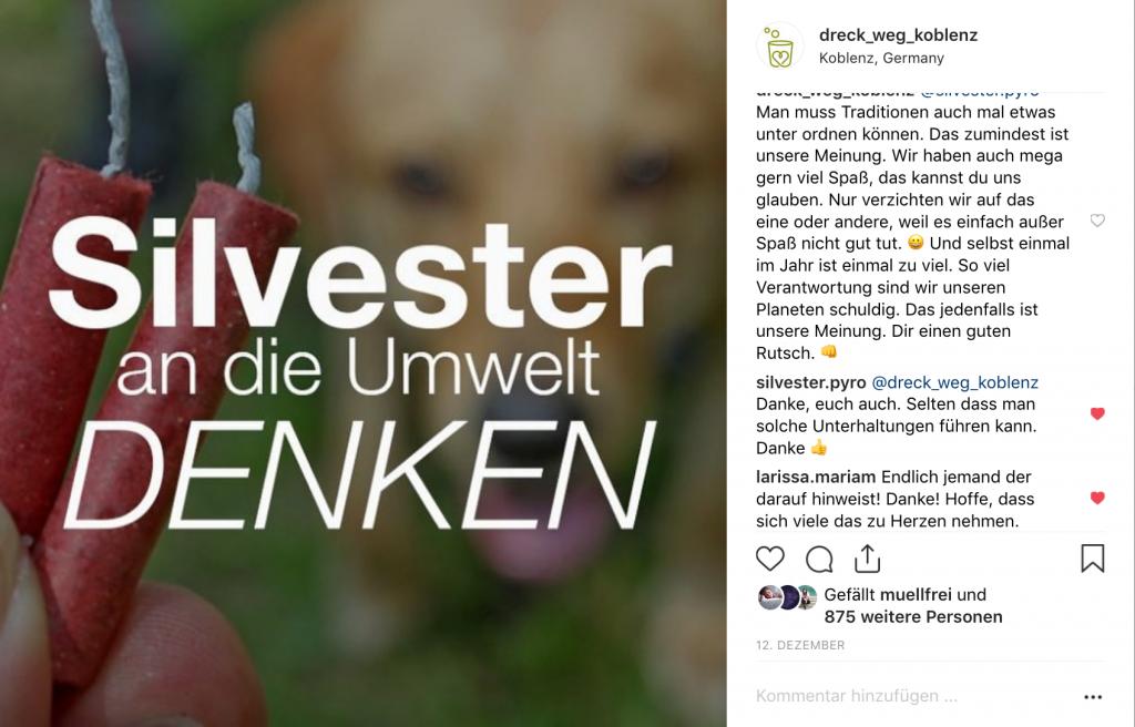 Bild: DRECK WEG, KOBLENZ! im Dialog auf Instagram
