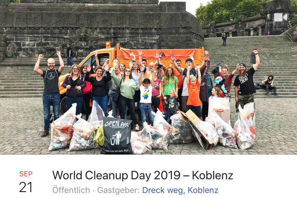 Foto: World Cleanup Day am 21.09.2019 auch in Koblenz