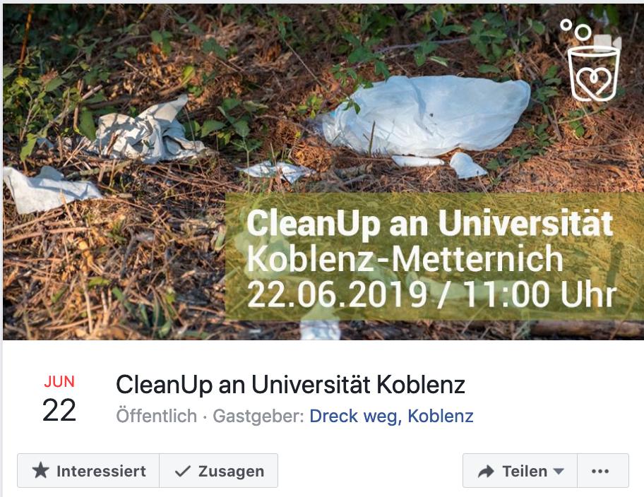 Foto: Facebook-Event CleanUp Universität Koblenz