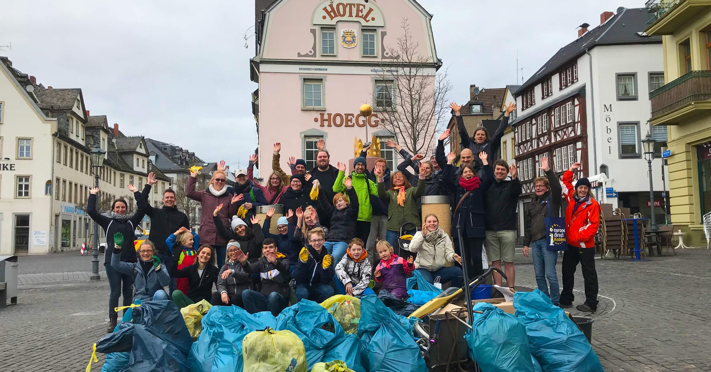 Foto: Dreck-weg-Tag Koblenz 2019: CleanUp in Ehrenbreitstein