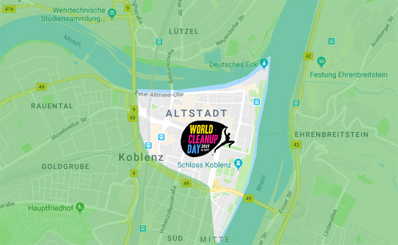 Bild: World Vleanup Day 2019 in Koblenz - das Areal