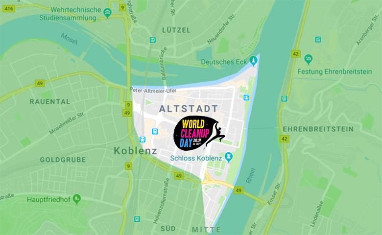 Bild: World Vleanup Day 2019 in Koblenz - das Areal