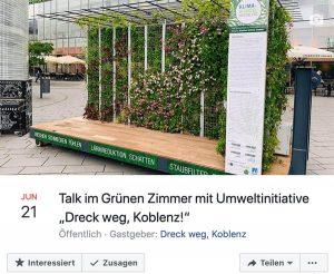 Foto: Diskussion zur Umweltthematik Vermüllung von Stadt und Natur