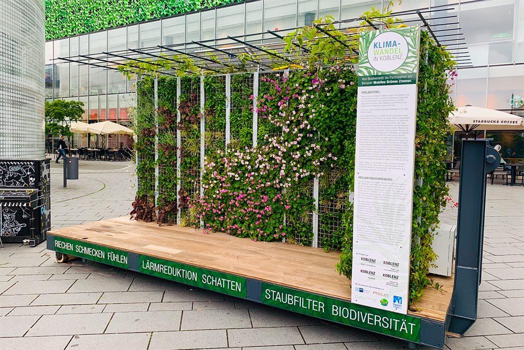 Foto: Grünes Zimmer auf Zentralplatz in Koblenz