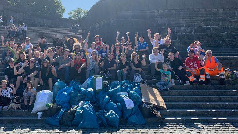 Foto: Teilnehmer World Cleanup Day 2019 in Koblenz