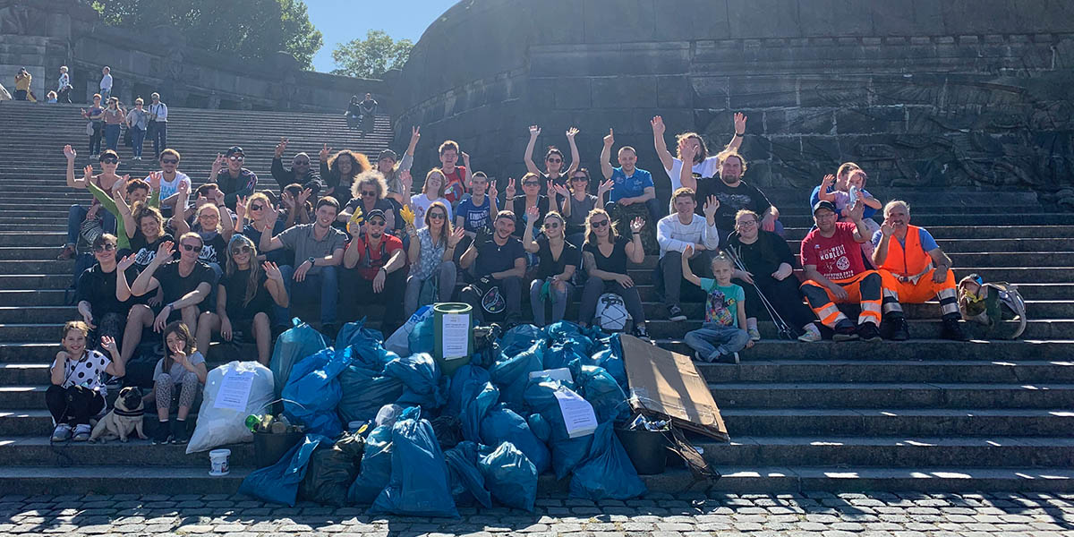 Foto: Teilnehmer World Cleanup Day 2019 in Koblenz