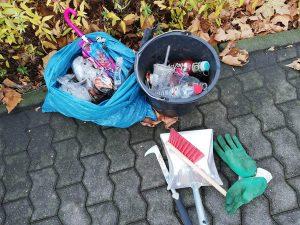 Foto: gesammelter Müll in Koblenz Lützel