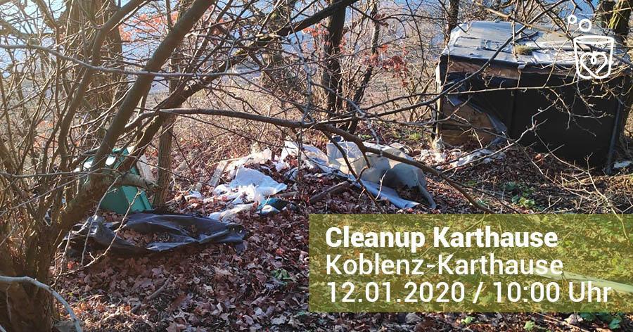 Abbildung: Cleanup auf der Karthause in Koblenz am 12.01.2020