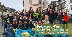 DRECK-WEG-TAG 14.03.2020 IN KOBLENZ @ Ehrenbreitstein, Koblenz