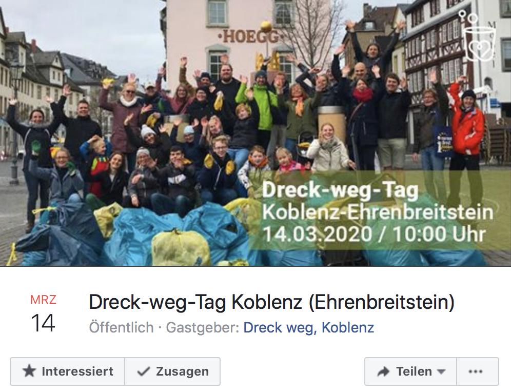 Foto: Event Dreck-weg-Tag 2020 in Koblenz auf Facebook