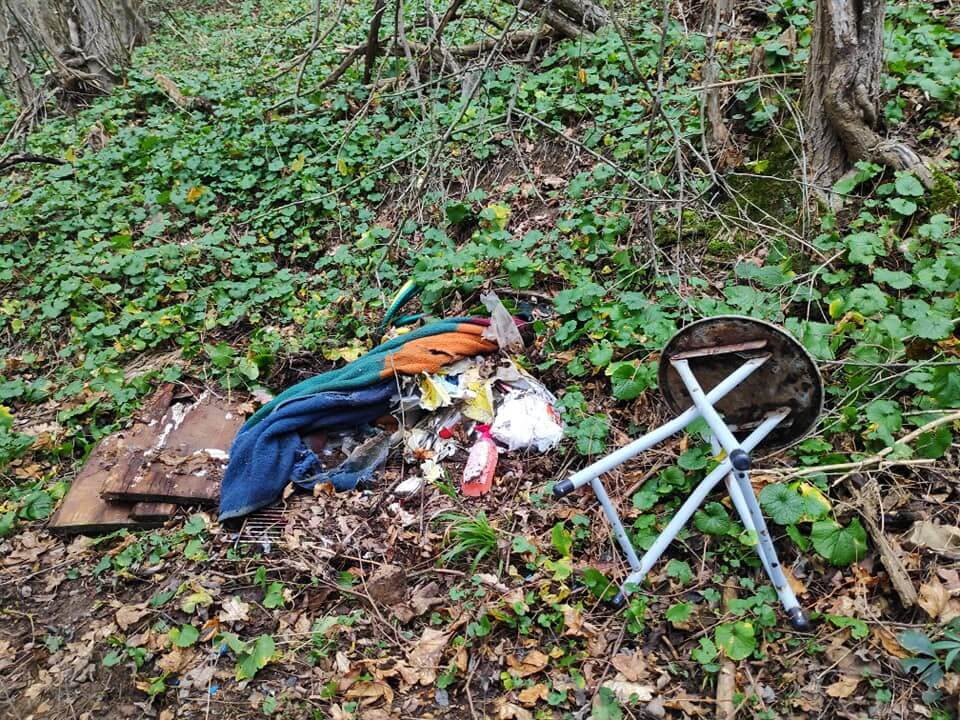 Foto: Unrat im Wald in Koblenz auf der Karthause