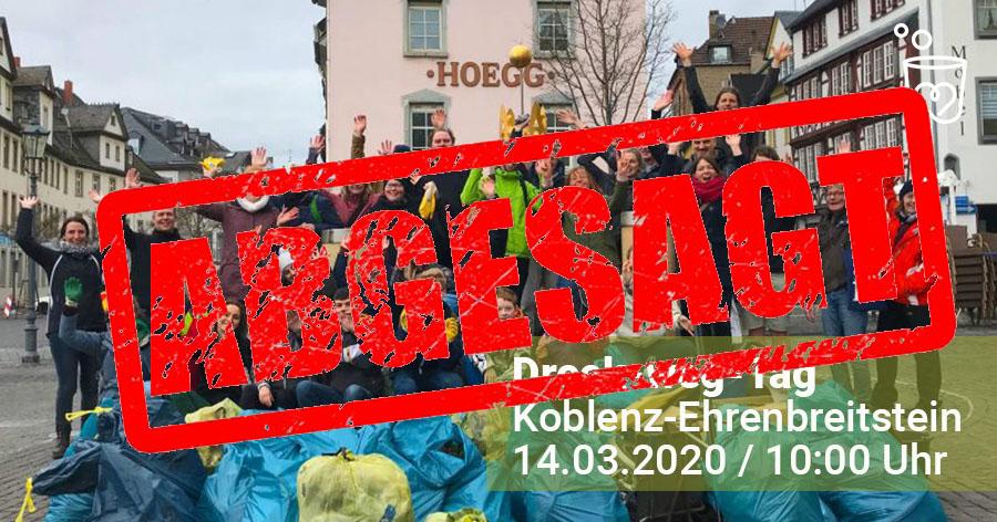 Abbildung: Coronavirus lässt Dreck-weg-Tag in Koblenz ausfallen
