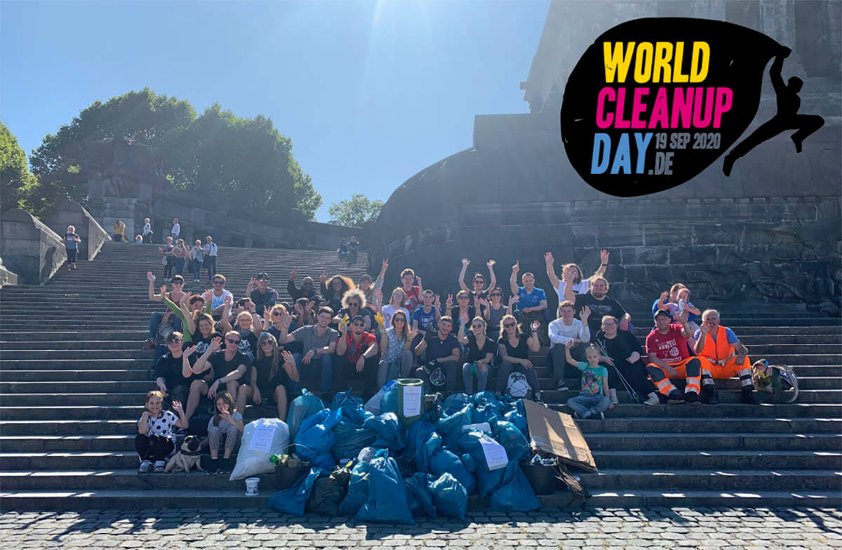 Abbildung: World Cleanup Day 2020 in Koblenz am Deutschen Eck