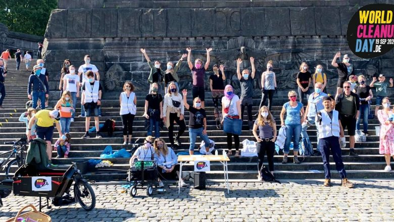 Abbildung: Crew des World Cleanup Day 2020 in Koblenz