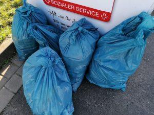Abbildung: Gesammelter Müll nach einem Cleanup bei Koblenz